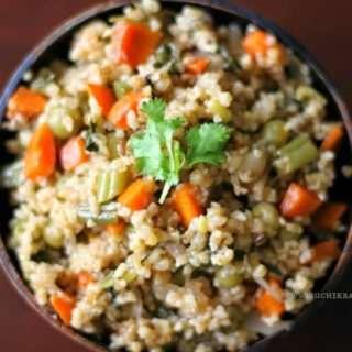 Lapsi/Dalia (Broken Wheat) Pulao / Upma / Porridge