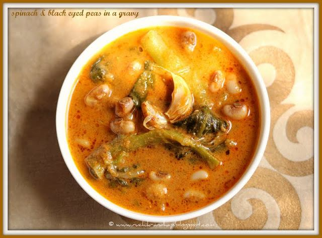 Randhaichi Kadi – Valchebaji Ani Guley (Vegetable Gravy with Spinach & Black Eyed Peas)