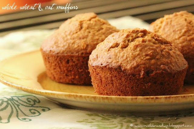 Whole Wheat & Oat Muffins
