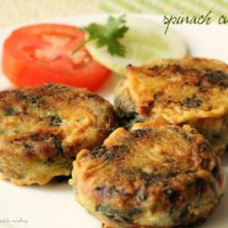 Bajiyechin Katlisaan (Spinach Cutlets)