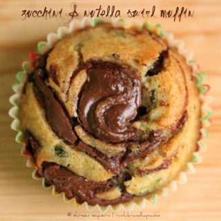 Zucchini & Nutella Swirl Muffins