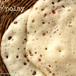 Polay / Polo/ Dosai (Yeasted Rice Batter Pancakes)