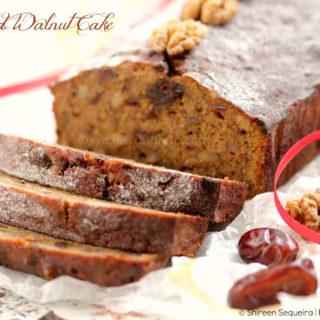 Date & Walnut Cake – Celebrating 1 Million Page Views!