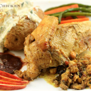 Christmas Special ~ Roast Chicken with Bread & Giblet Stuffing