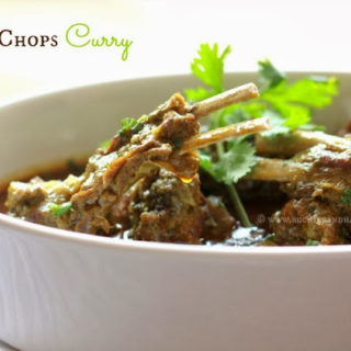 Mutton Chops Curry – When the hubby cooks!