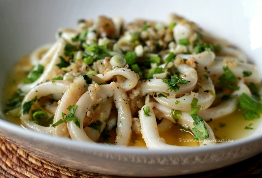 how to cook squid with vegetables