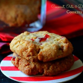 Coconut, Oats & Dry Fruit Cookies