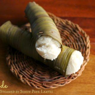 Moode | Mooday ~ Rice Cakes Steamed in Screw Pine (Kewra) Leaves