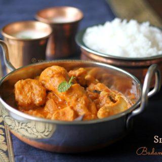 Simple Badami Chicken ~ Chicken in Almond Sauce