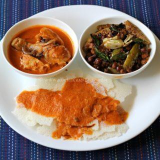 Mangalorean Plated Meal Series – Boshi#7 – Kori Ghassi, Kadale Manoli & Rotti