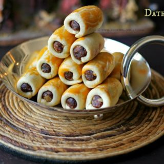 Date Rolls ~ Bombay Style Christmas Sweet