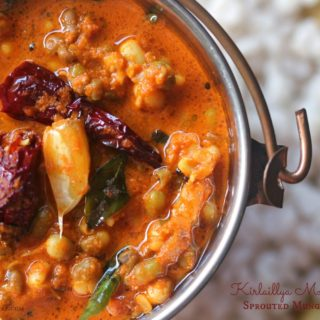 Padengi Ghassi ~ Sprouted Mung Bean Curry