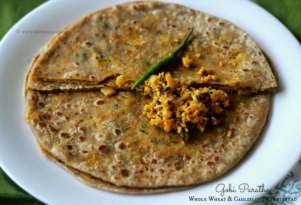 Gobi Paratha (Whole Wheat & Cauliflower Flatbread ...