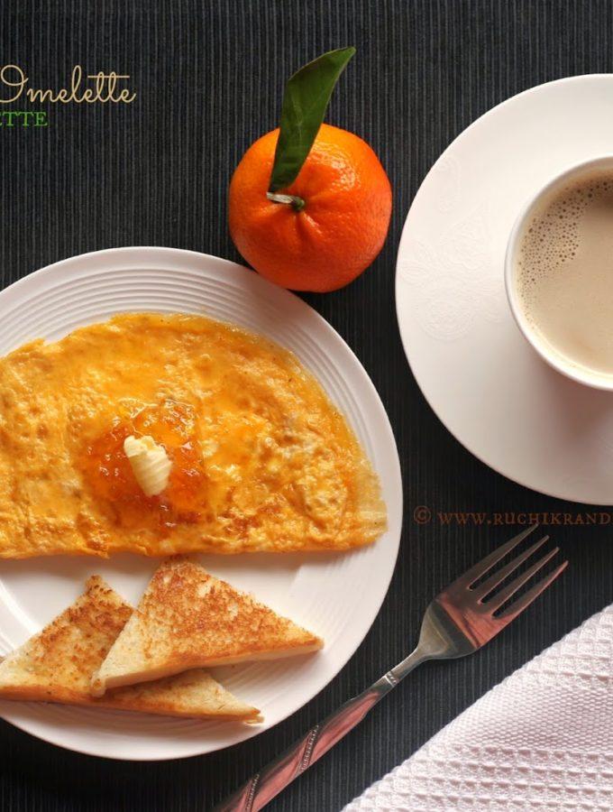 Marmalade Omelette ~ Sweet Omelette