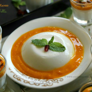 Coconut and Mango Panna Cotta