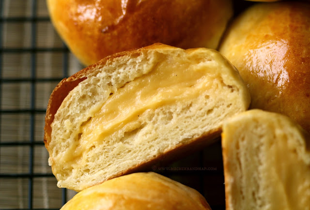 Cream Pan Japanese Custard Filled Cream Buns