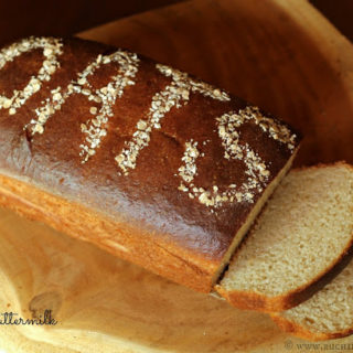 Oatmeal Buttermilk Bread #Breadbakers