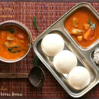 Sambar ~ Mangalore Hotel Style ~ When The Hubby Cooks!
