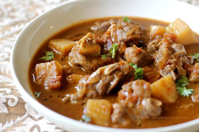Mutton Stew - Mangalorean Muslim Style - Ruchik Randhap