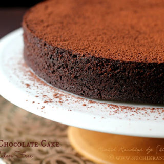 Prune and Chocolate Dessert Cake ~ Gluten Free