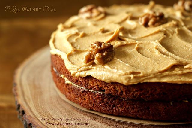 Coffee Walnut Cake | Ruchik Randhap