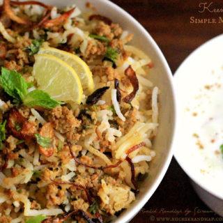 Keema Rice ~ Simple Mince Pulao