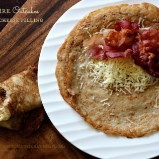 Staffordshire Oatcakes with a Bacon & Cheese Filling ~ #Breadbakers