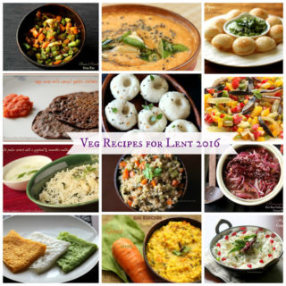Veg Recipes for Lent 2016