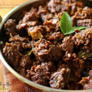 Beef Ularthiyathu ~ Classic Kerala Style Beef Fry
