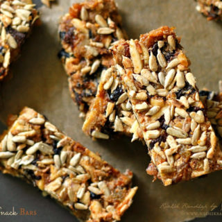 Dry Fruit Snack Bars ~ No Added Sugar!