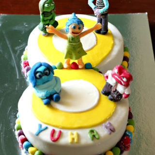 'Inside Out' Themed Fondant Covered Cake ~ Celebratory Cakes