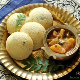 Rava Idli ~ Steamed Semolina Cakes