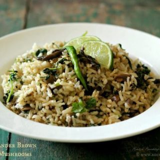 Chilli Coriander Brown Rice with Mushrooms