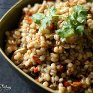 Barley Pulao ~ Diabetic Friendly Recipe
