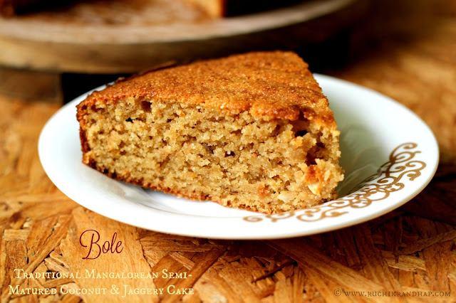 Bole ~ Traditional Mangalorean Semi-Matured Coconut & Jaggery Cake