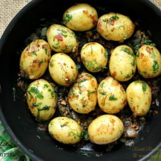 Baby Potatoes in Savoury Butter