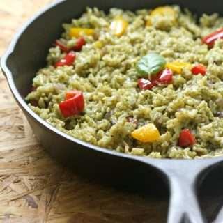 Pesto & Bell Pepper Rice