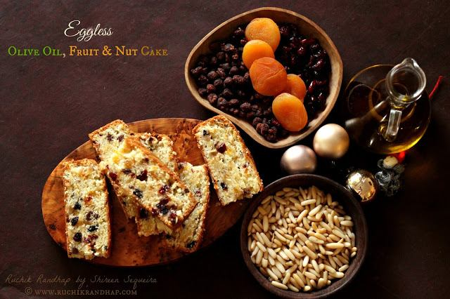 Eggless Olive Oil, Fruit & Nut Cake and a review of 'Keep Calm & Go Crazy' by Rohan Monteiro