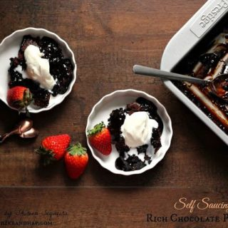 Eggless Self-Saucing Rich Chocolate Pudding