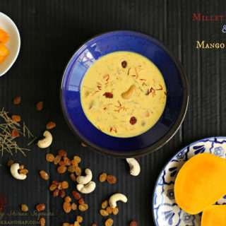 Millet Semiya & Mango Kheer Using Condensed Milk