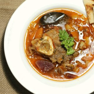 Mutton or Beef Soup with Root Vegetables