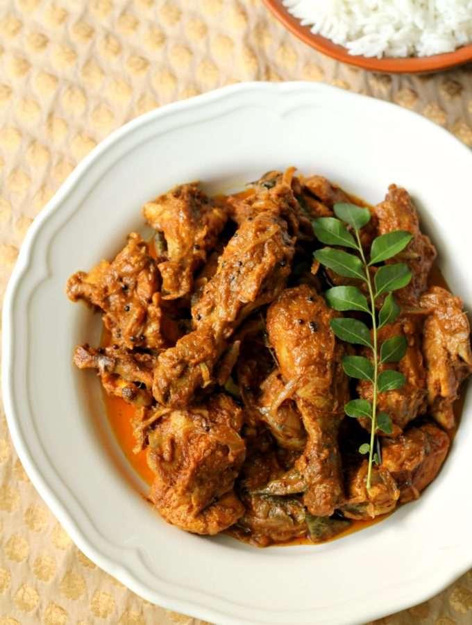 Chicken Peralan ~ Kerala Style Chicken Masala Roast