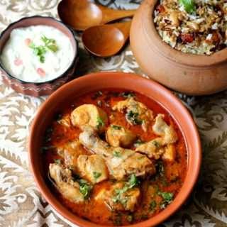 Jhat-Phat Chicken Curry ~ Pressure Cooker Method