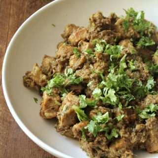 Spicy Pork Fry (with Green Chilli Masala)