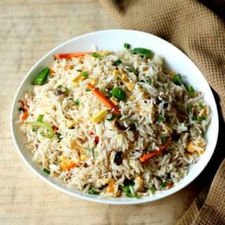 Mixed Vegetable Fried Rice (With or Without Egg)