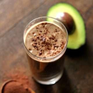 Chocolate & Avocado Smoothie ~ With Vegan Options