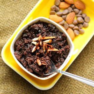Chocolate Sheera – Semolina Pudding Using Condensed Milk