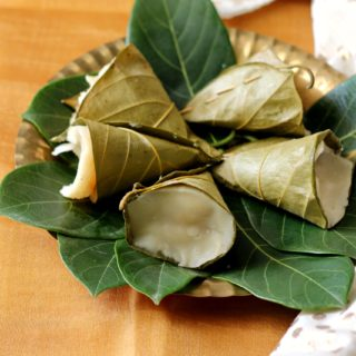 Idiyo – Sweet Rice Dumplings Steamed in Jackfruit Leaf Cones – GF + Vegan + Video!
