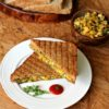Paneer, Corn & Spinach Grilled Sandwich